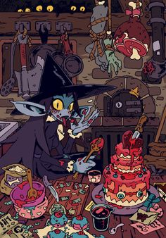 Vampire Witch loves to cook, she'll bake you into a cake to conquer your heart ! ♥