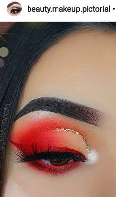 red half cut crease with gold eyeliner and ring winged eyeliner Makeup Goals, Makeup Inspo, Makeup Inspiration, Makeup Tips, Makeup Ideas, Makeup Brands, Makeup Eye Looks, Cute Makeup, Pretty Makeup