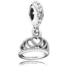 Pandora Dangle Charm ($45) ❤ liked on Polyvore featuring jewelry, pendants, silver, charm bracelet, dangle bracelet charms, charm pendant, bracelet charms and silver charm bracelet