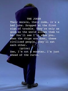 Heath Ledger as The Joker. LOVE THIS get chills reading it
