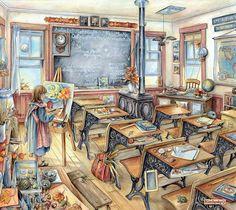 Дом, в котором живет счастье... Художница Kim Jacobs.. Обсуждение на LiveInternet - Российский Сервис Онлайн-Дневников