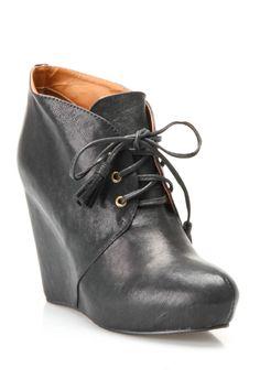 Lace up wedge  booties / NYLA
