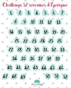 L'année dernière je vous avais parlé du 52 weeks challenge, ce challenge où on épargne une somme hebdomadaire correspondant au numéro de la semaine
