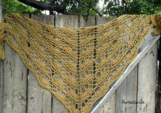 Another crochet shawl with naturally-dyed yarn.