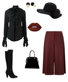 """""""Yes, they're called culottes."""" by theharlemhippie-sharema on Polyvore featuring Marella, Carvela Kurt Geiger, Christian Pellizzari, Diophy, Betsey Johnson and Lime Crime"""