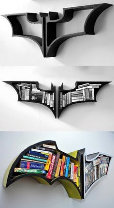 Best Of Manly Man Cave Accessories! - 25 Pics The Best Of Manly Man Cave Accessories! [ ]The Best Of Manly Man Cave Accessories! Unique Man Cave Ideas, Batman Room Decor, Batman Bedroom, Man Cave Accessories, Bedroom Accessories, My Room, Bookshelves, Batman Bookshelf, Bookshelf Design