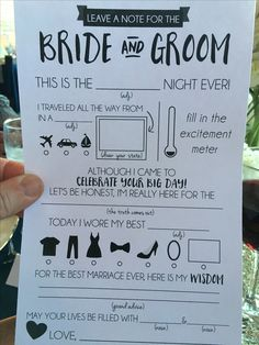 "Cute & fun wedding ""Mad Lib"" -Fun to know who was there and maybe helpful with gifts handwriting? Cute Wedding Ideas, Wedding Games, Wedding Tips, Perfect Wedding, Wedding Engagement, Fall Wedding, Our Wedding, Dream Wedding, Fun Wedding Activities"