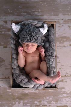 Huggabeans — Newborn Viking Hat OKAY I am in LOVE!