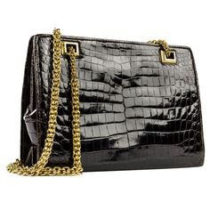 Vintage Gucci Crocodile Shoulder Bag | From a collection of rare vintage handbags and purses at http://www.1stdibs.com/fashion/accessories/handbags-purses/