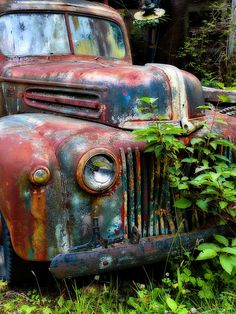 old rusty car pictures | Old, Rusty, Car, Truck, Ford, Automobile, Vehicle