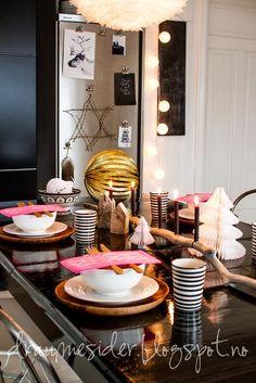 Draumesidene: Pink & black november - waiting for x-mas...