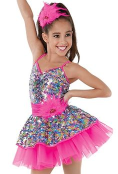 Weissman™ | 2-in-1 Sequin Dress with Tutu, changes from a biketard to a tutu For pricing please email us at thedancingfeetshop@gmail.com