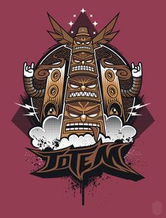 "T-Shirt Design ""Urban Totem"" on Behance"