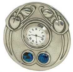 Please note that this item is made to order and can take up to 4 weeks - use our website chat feature or email us to find out an estimated date Art And Craft Design, Art Deco Design, Isle Of Man, Art Nouveau, Archibald Knox, Mantel Clocks, Arts And Crafts House, Antique Clocks, Large Clock