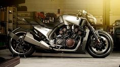 Yamaha V-Max Hyper Modified custom motorcycle.