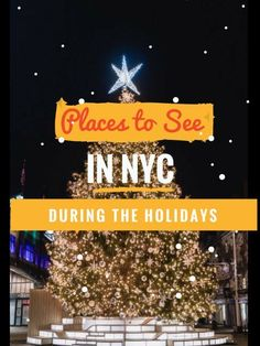 Christmas in New York?! Here are the places you should see!
