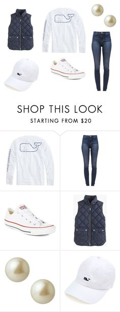 """""""Friday"""" by taylorshumadine ❤ liked on Polyvore featuring Vineyard Vines, J Brand, Converse, J.Crew and Carolee"""