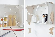 DIY Xmas stable #christmas #stable - Zelfmaakidee #kerststal #kerst Kijk op www.101woonideeen.nl