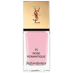 Yves Saint Laurent La Laque Couture (110 RON) ❤ liked on Polyvore featuring beauty products, nail care, nail polish, makeup, beauty, nails, vernis, rose romantique, couture nail polish and yves saint laurent