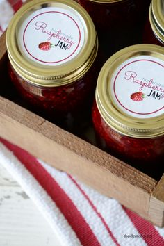 Raspberry Jam Recipe without Pectin - The Idea Room Fast Healthy Meals, Easy Healthy Recipes, Jam Recipes, Canning Recipes, Jam Recipe Without Pectin, Jam Label, Christmas Jam, Jam And Jelly, Jam Jar
