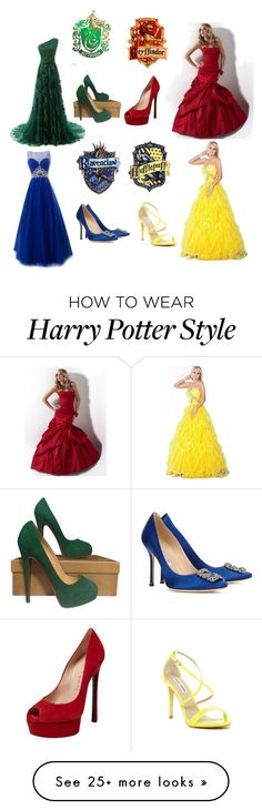 """Yule ball"" by countrygal1999-1 on Polyvore featuring Christian Louboutin, Casadei, Jovani, Manolo Blahnik and Steve Madden"