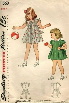 c2e87b87b74af Vintage Simplicity Cute Child, Girl Princess Dress Sewing Pattern! #1569,  sz.