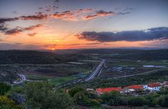 The sun's first rays color northern Israel's verdant countryside with the bright hues of early morning.