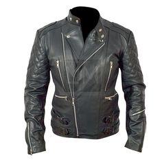 Brando Mens Motorcycle Biker Black Genuine Leather Jacket 1