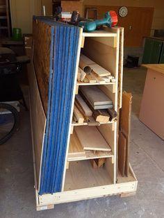 Wood Storage Cart Redux - Storage Cart - Ideas of Storage Cart #StorageCart - Wood Storage Cart Redux #woodworkingbench
