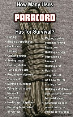 How Many Uses Paracord Has for Survival