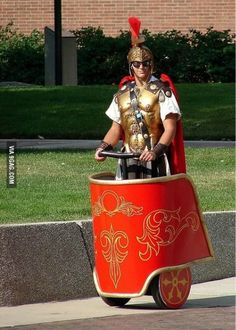 This man knows how to ride a segway