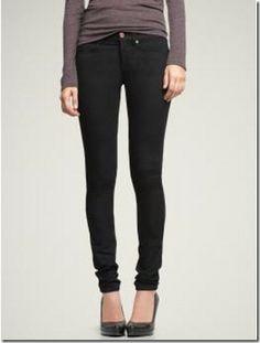 Skinny jeans + high heels.