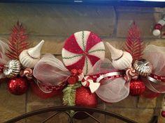 Christmas Mantle - Rissa's Deco Mesh Garland