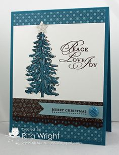 Rita's Creations: Fab Friday Evergreen  Stampin' Up!