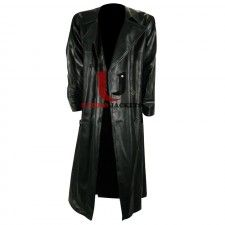 Black Eric Draven The Crow High Quality Leather Long Coat