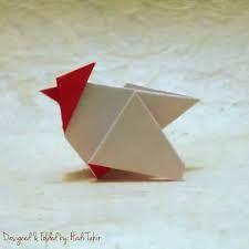 Резултат с изображение за rooster origami