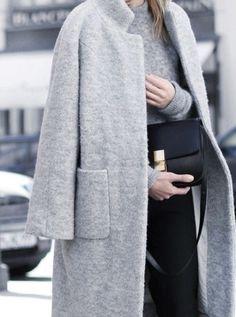 Grey on grey minimal chic