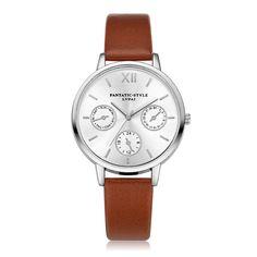 Women Fashion Leather Band Analog Quartz Round Wrist Watch Watches #style #fashion #watches #womenswatch #gift #giftideas #luxury #classy