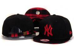 Casquette NY New York Yankees Snapback Noir Rouge Logo Casquette New Era Pas Cher