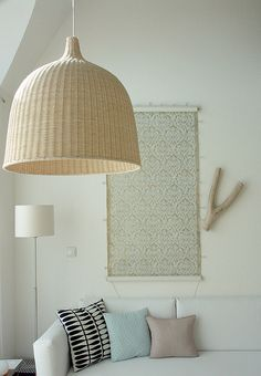 via Ivy style 33: love the leran pendant light from ikea...I am thinking of hanging one over my dining table