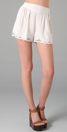 Free People embroidered shorts $68