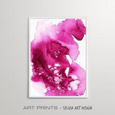 Modern Abstract Wall Art Downloadable Print Modern Art Pink Pink Watercolor, Abstract Wall Art, Printable Wall Art, Different Colors, Modern Art, Printables, Posters, Artwork, Prints