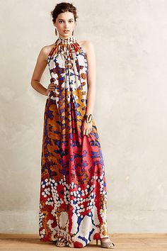 Lorna Silk Maxi Dress - anthropologie.com