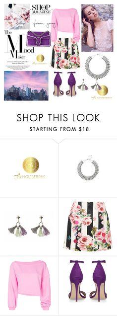 """""""angieberrys"""" by jelena-si ❤ liked on Polyvore featuring Chaya, Dolce&Gabbana, MSGM, Prada, Gucci and Angieberrys"""