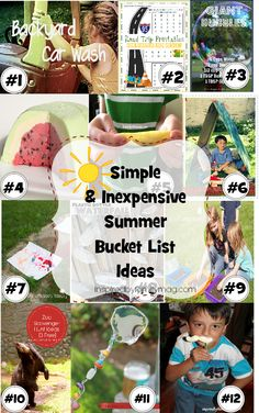 Simple and Inexpensive Summer Bucket List Ideas