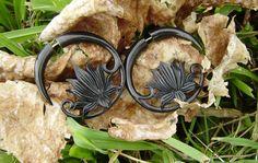 Fake gauge earringsOrganic Black Horn tribal style by ANELAJADE, $24.99