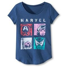 Marvel Girls' Graphic Tee - Blue M