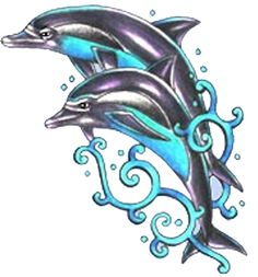 Awesome Dolphin tattoo design, I have a friend who wants a dolphin tattoo to commemorate her Mom, and I want to draw a design for it and surprise her with it and hopefully she will like it.
