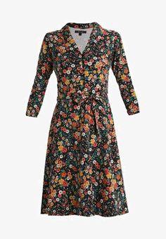 EMMY DRESS FLOWERBED - Vestito di maglina - black 202fdbfc161