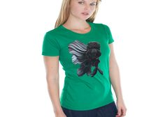 An art-to-apparel company, featuring exclusive artist's pieces as the illustrations for our apparel. Women's Green Shirt, Clothing Company, T Shirts For Women, Mens Tops, Fashion, Moda, Fasion, Fashion Illustrations, Fashion Models
